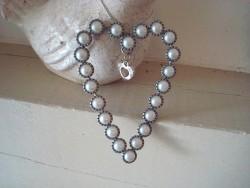 Suspension en forme de coeur perlé style de charme