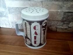 """Saupoudreuse avec anse """"Café"""", accessoire vintage"""