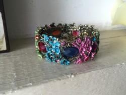 Bracelet vintage multicolore style baroque