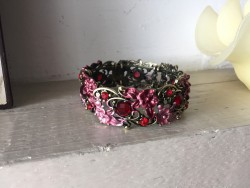 Bracelet fantaisie rose style baroque