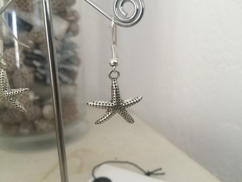 Boucles d'oreilles à breloque étoile de mer