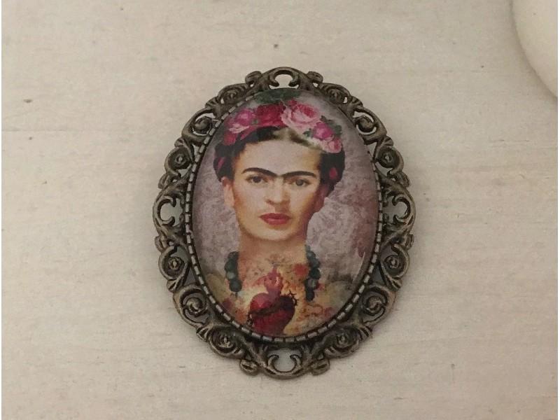 Broche originale Frida KAHLO coloris bronze
