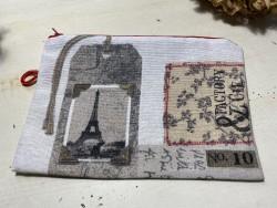 Pochette de sac Tour Eiffel style vintage
