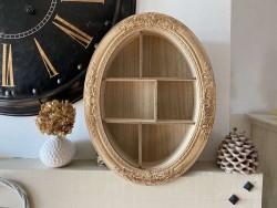 Étagère en bois naturel style rétro
