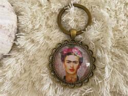 Porte clés vintage Frida KAHLO coloris bronze