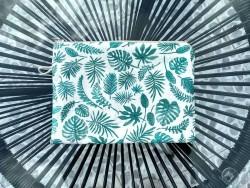 Pochette de sac aux multiples feuilles coloris vert/bleu
