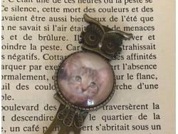 Marque page trombone à la fleur au chat de gouttière