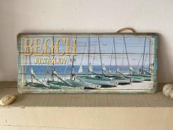Pancarte BEACH Just enjoy bord de mer