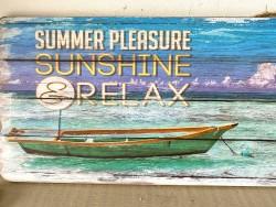 Pancarte SUMMER PLEASURE style bord de mer