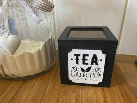 boite à thé noire carré