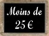 Moins de 25 euros